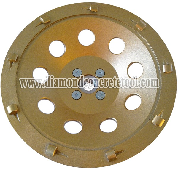 Quarter Round Segments PCD Cup Wheel with M14 Flange